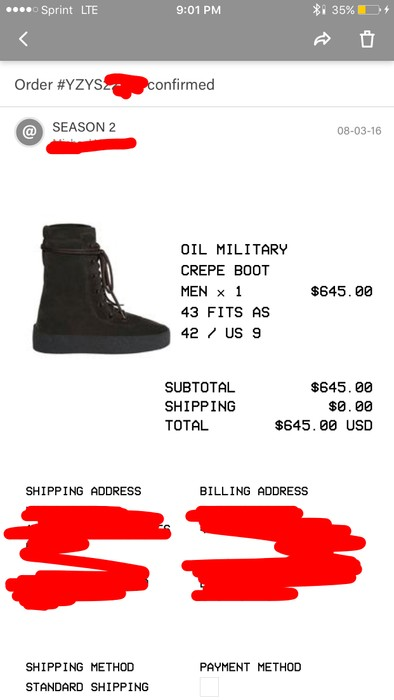 8c99e93c0 Yeezy Season SEASON 2 OIL CREPE BOOTS Size 10 - Boots for Sale - Grailed