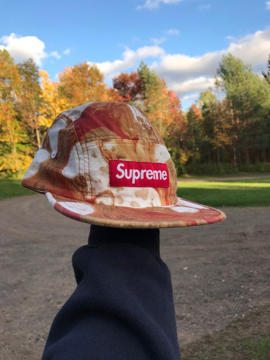 3d99c3dd568 Supreme Supreme x Andres Serrano - Blood and Semen Camp Cap - White Size  ONE SIZE