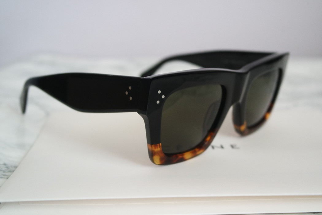 900be50e8c7a6 Celine NEW Celine 41054 Black Havana Oversized Flat Top Sunglasses Size ONE  SIZE - 4