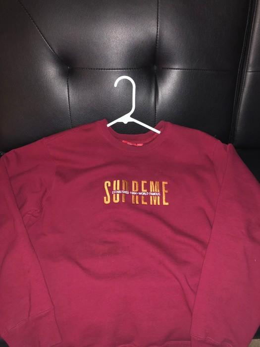 f41d15125a9b Supreme World Famous Crewneck Cardinal Size l - Sweaters   Knitwear ...