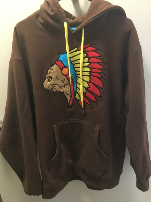 962182b4d0b8 Golf Wang Golf Native Cat Hoodie (Brown) Size l - for Sale - Grailed
