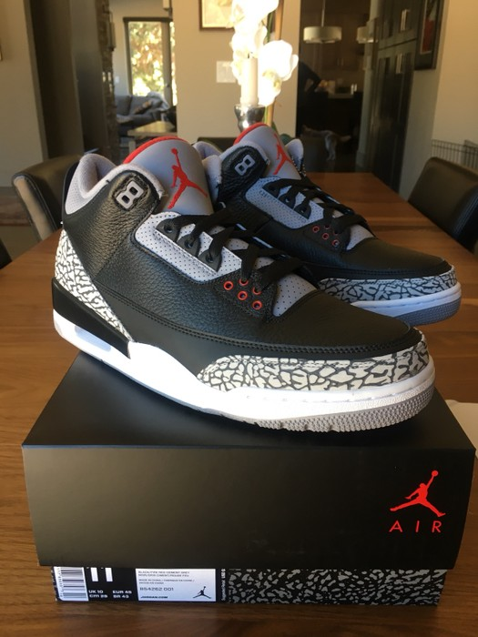 premium selection f65e5 46d46 Nike Nike Air Jordan 3 Retro OG  Black Cement  2018 Deadstock Size US 11
