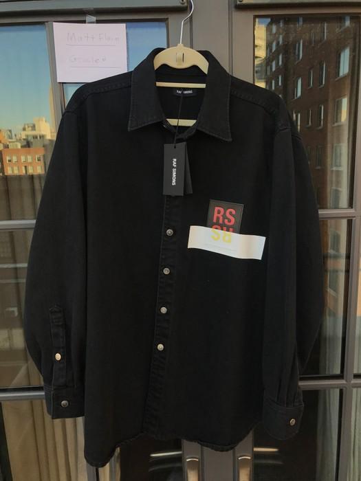 022b631c918 Raf Simons Raf Simons Patch Denim Shirt in Black Size m - Shirts ...