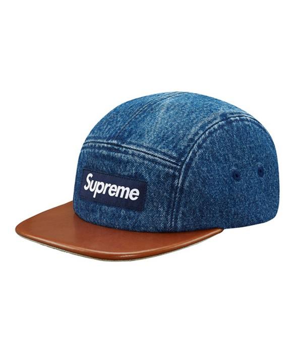 cc3d7f56baf Supreme Denim leather visor camp cap Size one size - Hats for Sale ...
