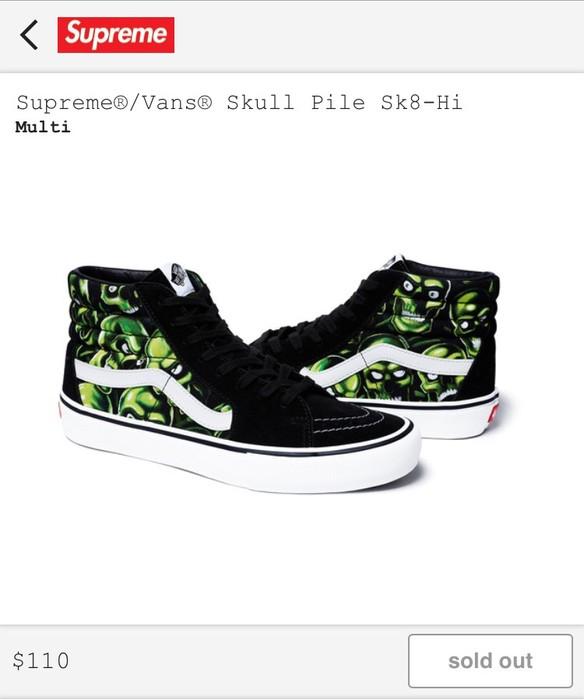 9c65d98cdc Supreme Supreme Vans Skull Pile Sk8-Hi Size 9 - Hi-Top Sneakers for ...