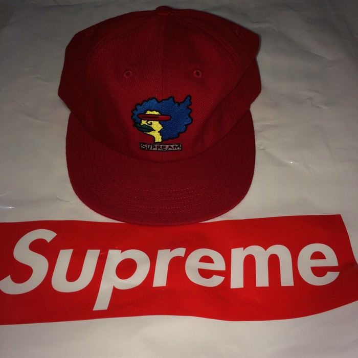 a729ab87b6d Supreme Supreme Gonz 6 Panel SnapBack Hat Supream Cap Red Size ONE SIZE