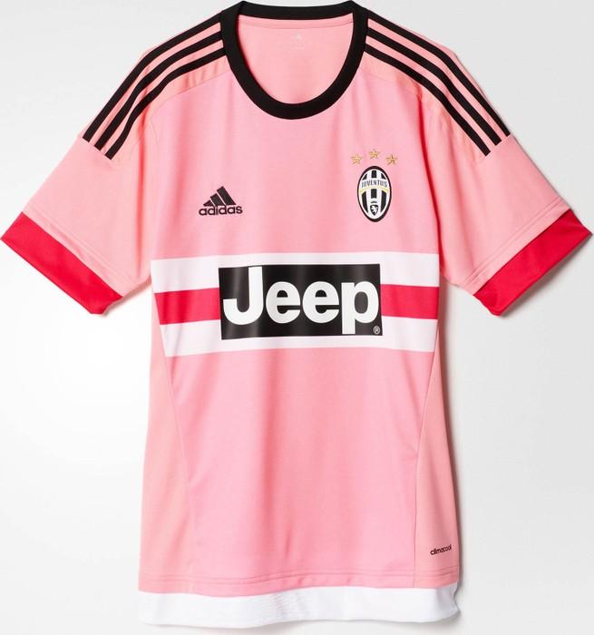 74fd90f5e Adidas  FINAL DROP  2015-2016 Juventus Adidas Away Football Jersey Short  Sleeve Pink