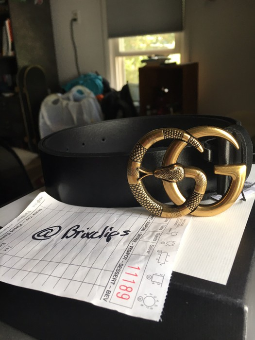 757010c6959 Gucci Gucci Leather Belt With Double G Buckle With Snake Size 30 ...
