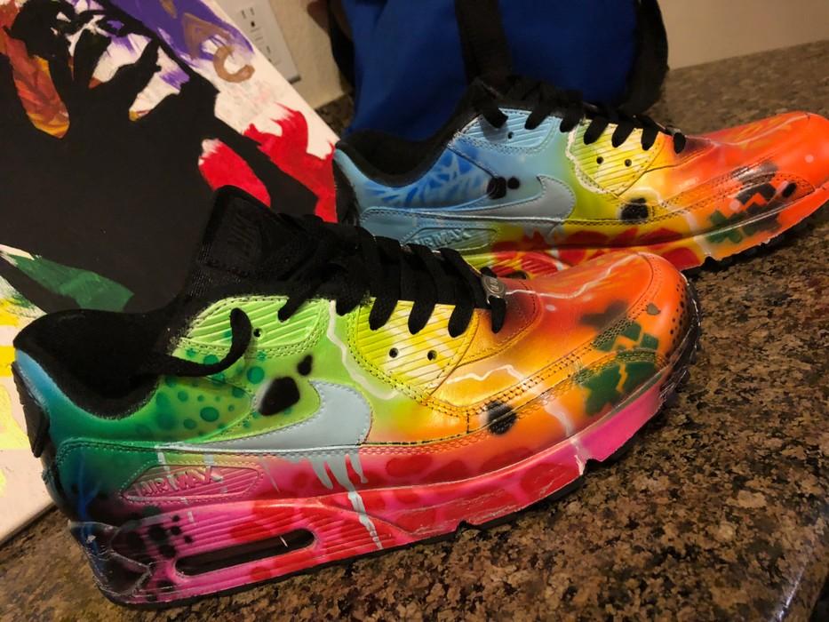 best sneakers be4f9 b112c Nike. Custom Nike Air Max 90 Galaxy Style ...