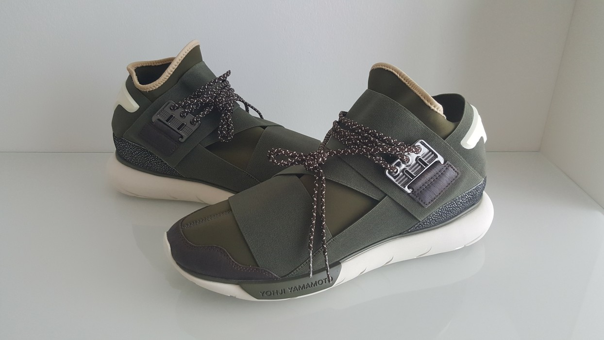 a02b1a1d2 Y-3 Y-3 Qasa High Olive Drab Size 9.5 - Low-Top Sneakers for Sale ...