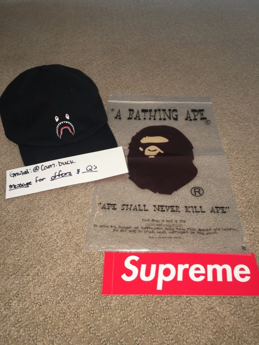 2c5ddaa0ecc3a Bape Shark Dad Hat Size one size - Hats for Sale - Grailed