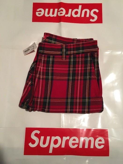8f428e9387fd1 Supreme Supreme Work Pant Royal Stewart Tartan Plaid Size US 32   EU 48