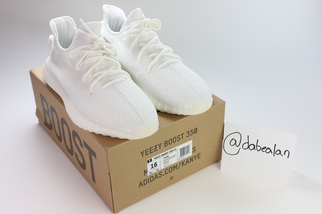 ea7b348e9 Yeezy Boost Size 16 Yeezy Boost 350 V2 Cream White Size 15 - Low-Top ...