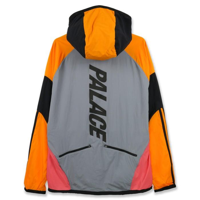 2f7f6e4ffc33 Adidas Palace X Adidas Hooded Jacket Grey   Lucky Orange Size US L   EU 52