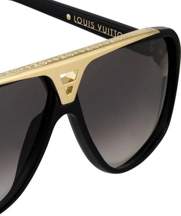 75bcadf9e9806 Louis Vuitton Z0350W Evidence Black   Gold Sunglasses Size one size ...