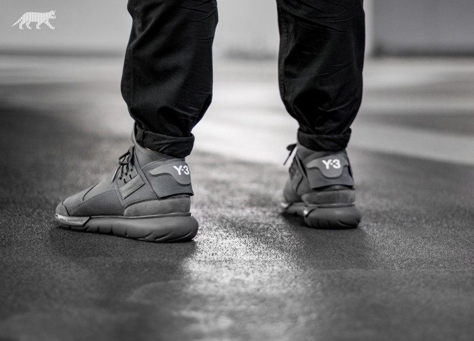 526eeebad Y-3 Y-3 qasa high vista grey Size 8 - Hi-Top Sneakers for Sale - Grailed