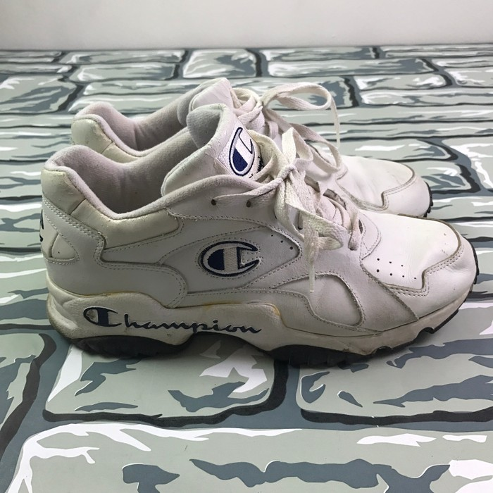 076452dc929 Champion VTG 90s Champion Dad Shoes Spell Out Size 10.5 - Low-Top ...