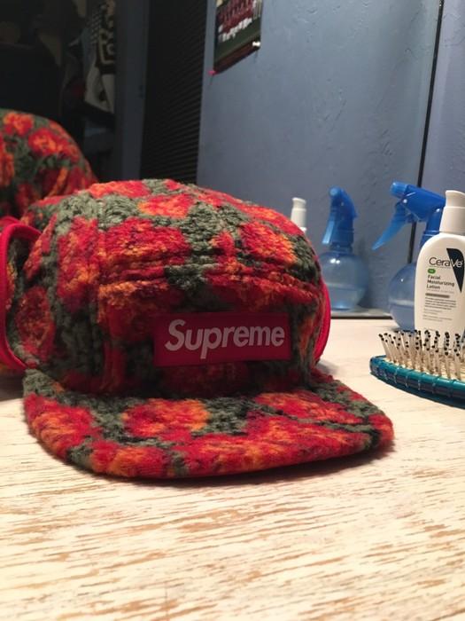 8fc53621fee Supreme Supreme Roses Sherpa Fleece Earflap Camp Cap Size one size ...