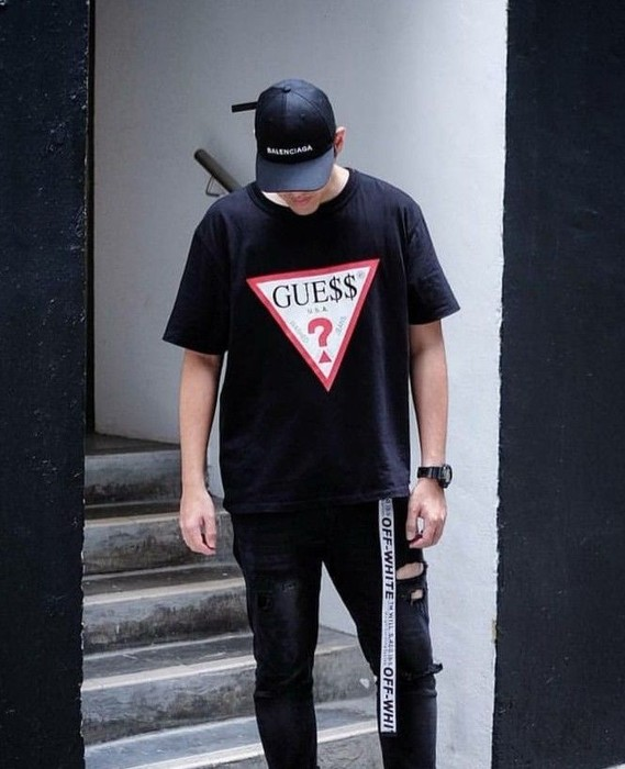 2239feec16 Guess Guess Asap Rocky Limited Edition Mens Tshirt Size L Short