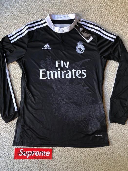 a8cbc7d83cde Adidas Real Madrid Yohji Yamamoto Adidas Dragon Longsleeve Football Jersey  Size US L   EU 52