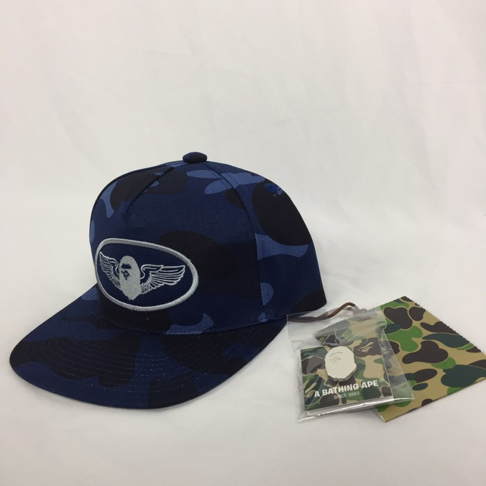 96ffb6af2d5 Bape. Bape Rare Limited Edition Hat And Pin Set Blue Camo Brand New   DS  SnapBack. Size  ONE SIZE