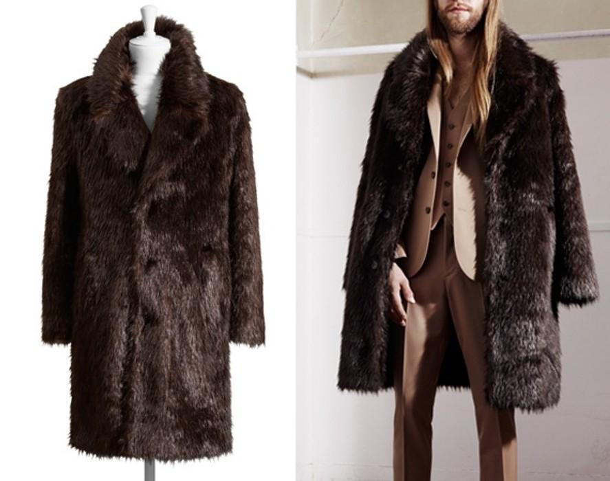 8ef7eef54338 Maison Margiela MMM x HM Faux Fur Beaver Coat Size m - Heavy Coats ...