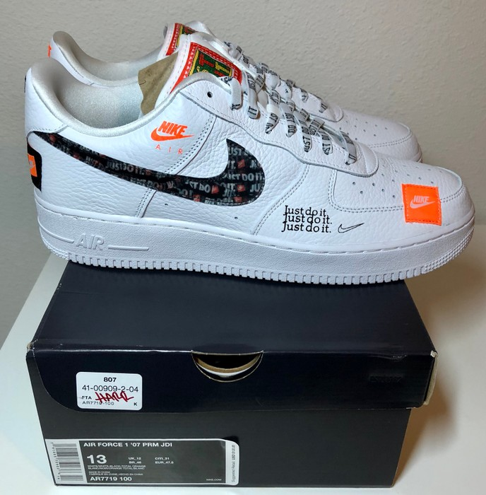 df7b161d7a46 Nike AIR FORCE 1 LOW - JUST DO IT - WHITE - SIZE 13 AR7719 Size 13 ...