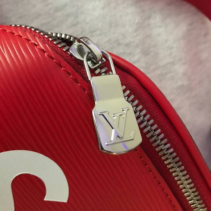 b0a8e2a74659 Supreme SUPREME LV LOUIS VUITTON Red Epi Leather Fanny Pack Bumbag Size ONE  SIZE - 1