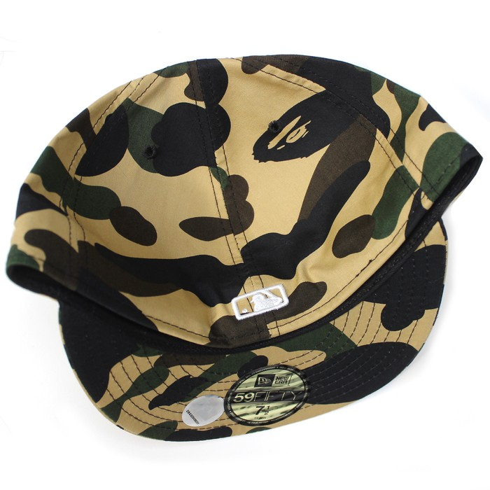 ce167090125 Bape 2008 LA Exclusive 1st Camo Dodgers Logo Fitted Hat (Yellow ...