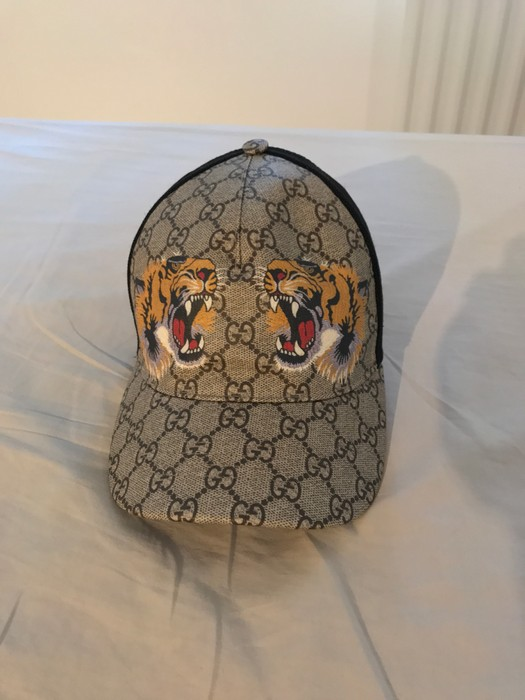a729aa7b036fa Gucci Gucci Tigers Print GG Supreme Baseball Hat   Cap Size one size ...