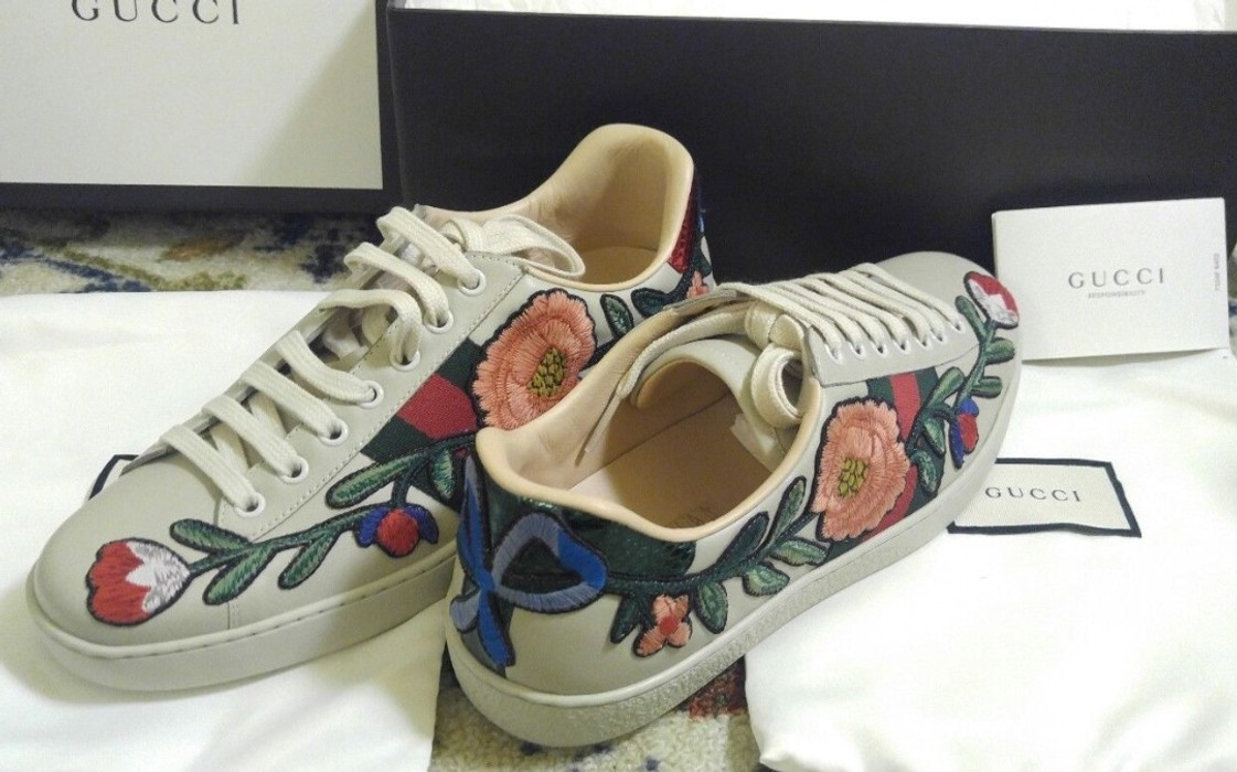 e224220b59f Gucci Gucci Ace Floral Size 8 - Low-Top Sneakers for Sale - Grailed