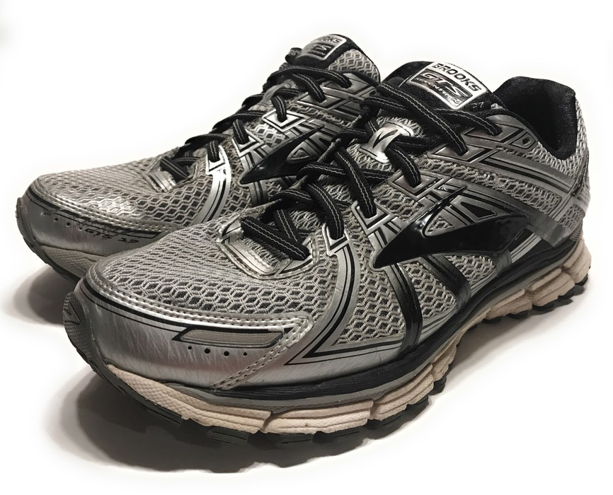 d0c1507a5a4f0 Brooks Adrenaline GTS 17 Silver   Black Running Shoes Size 9 - Low ...