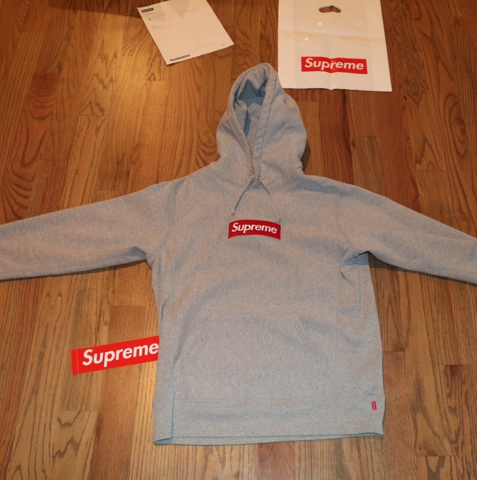 c5a1f3884ef2 Supreme Supreme Box Logo Hoodie Heather Grey FW 16 Size US M   EU 48-