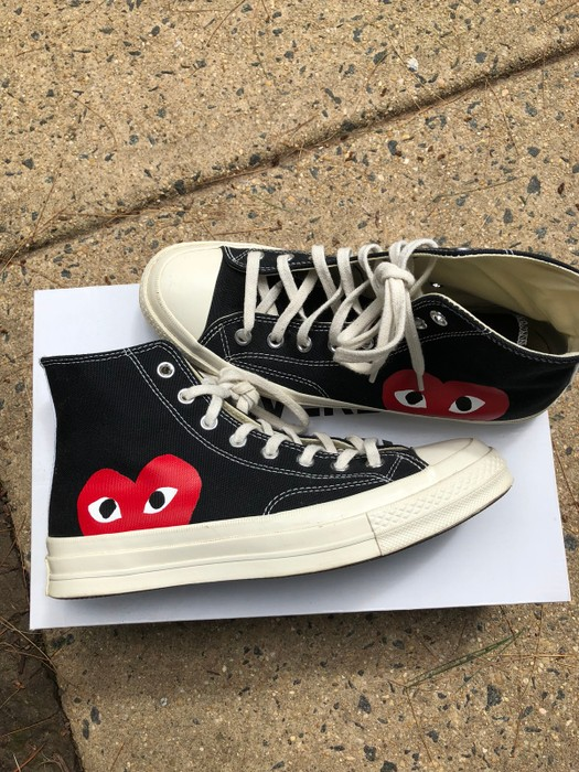 ce9f45487091b8 Converse CDG Converse Black High Top MENS Size 8 WOMENS Size 10 Size US 8