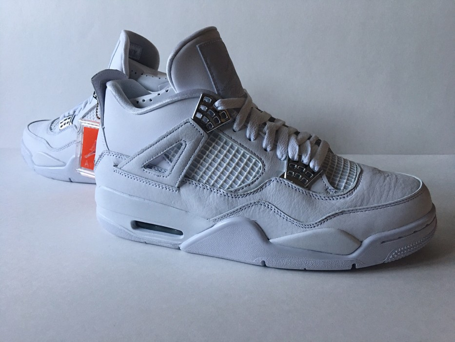 newest c8d5f 09b8c Jordan Brand. NIKE AIR JORDAN 4 PURE MONEY  SZ 10.5  RETRO OG WHITE SILVER  DS 7 IV 308497-100