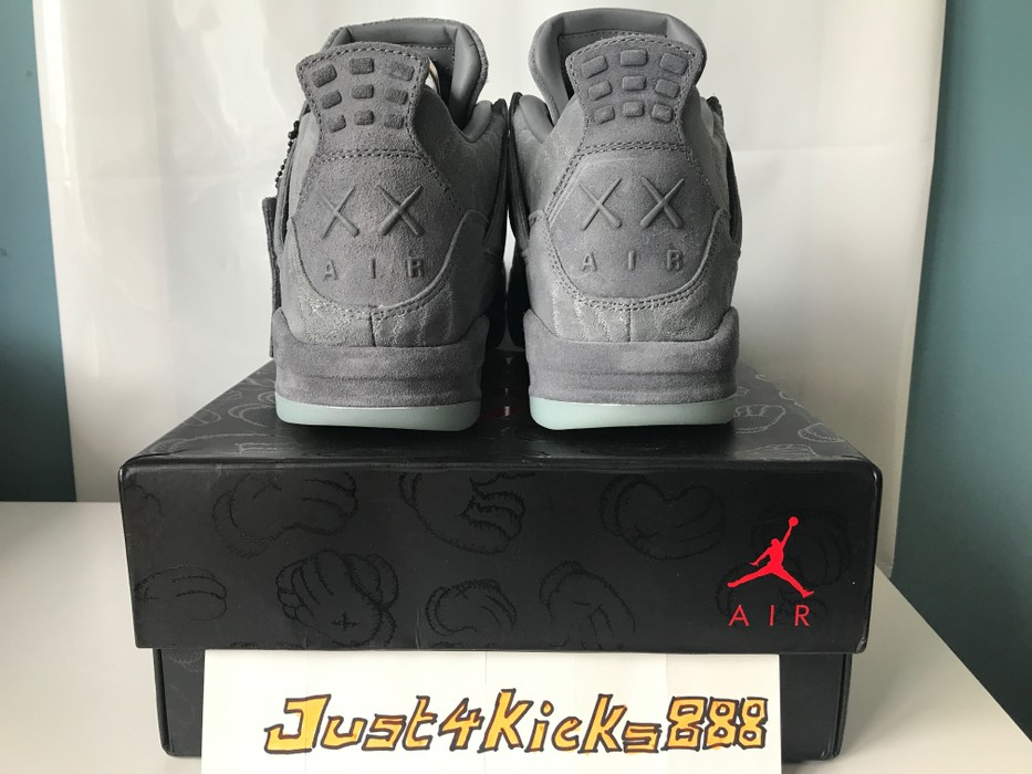 a14198f77c541e Jordan Brand KAWS x Nike Air Jordan 4 Retro  Cool Grey  US 10.5 Size ...