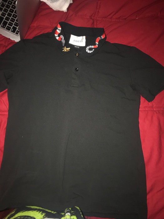 952db2b3 Gucci Gucci Snake Embroidered Polo Size s - Polos for Sale - Grailed