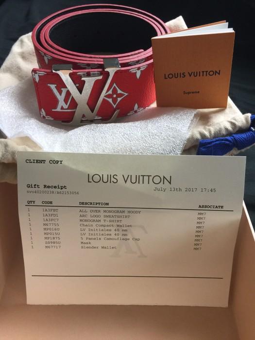 4084c80a7973 Supreme Supreme x Louis Vuitton belt Size 40 - Belts for Sale - Grailed