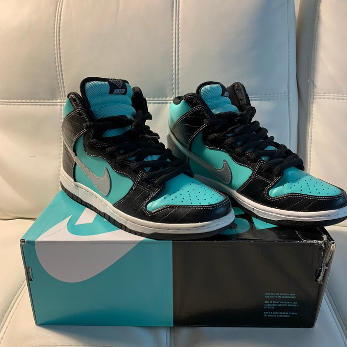 "bd74a2be371c Nike Nike Dunk High SB ""Diamond"" Tiffany Size 9 - Hi-Top Sneakers ..."
