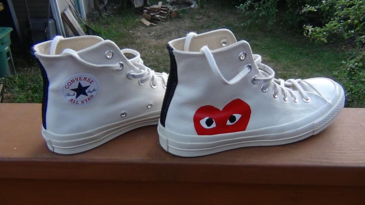 a4814818054e Converse CDG x Converse Chuck Taylor All-Star 70s Hi Comme des Garcons PLAY  White