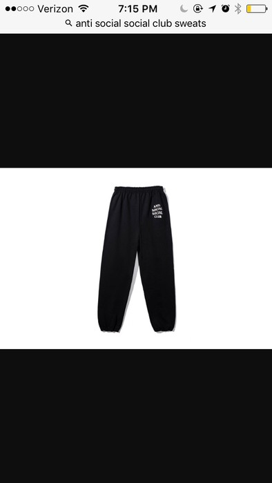 20f5b27abeec Antisocial Social Club Black Pants Small Size 30 - Sweatpants ...
