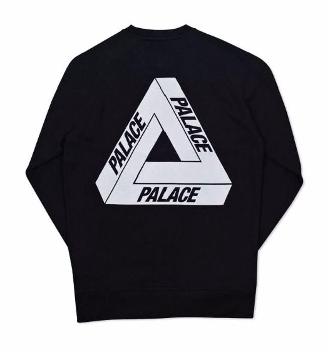 4f45bf41c9a5 Palace Flocka Tri Ferg Crewneck Sweatshirt SS16 black Size US M   EU 48-50
