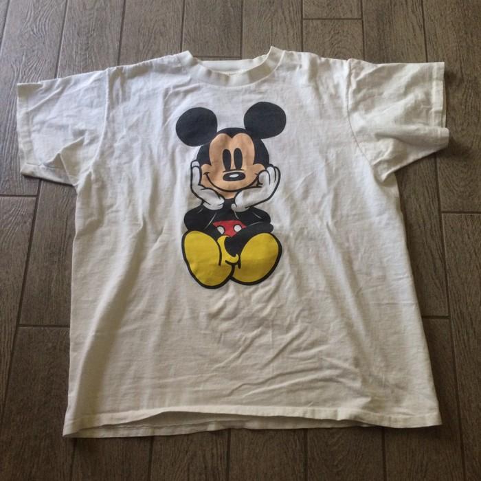 58cc74de27ec Vintage Vintage Mickey Mouse Double Side Graphic Single Stitch T-shirt Size  Large Disney Size