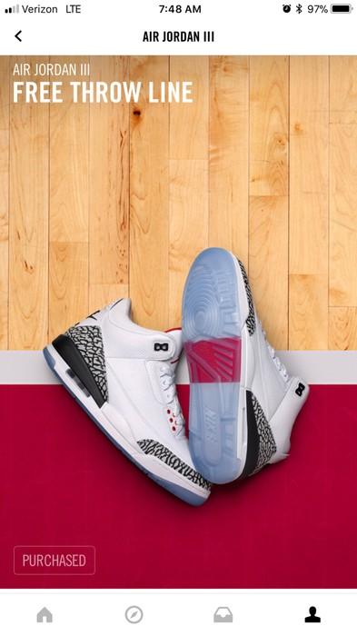 08053d0474a94 Nike Air Jordan 3 Free Throw Line Size 8 - Hi-Top Sneakers for Sale ...