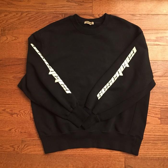 a6261ef32 Adidas Yeezy Season 4 Bat Black Calabasas Crewneck Sweatshirt Size US M    EU 48-