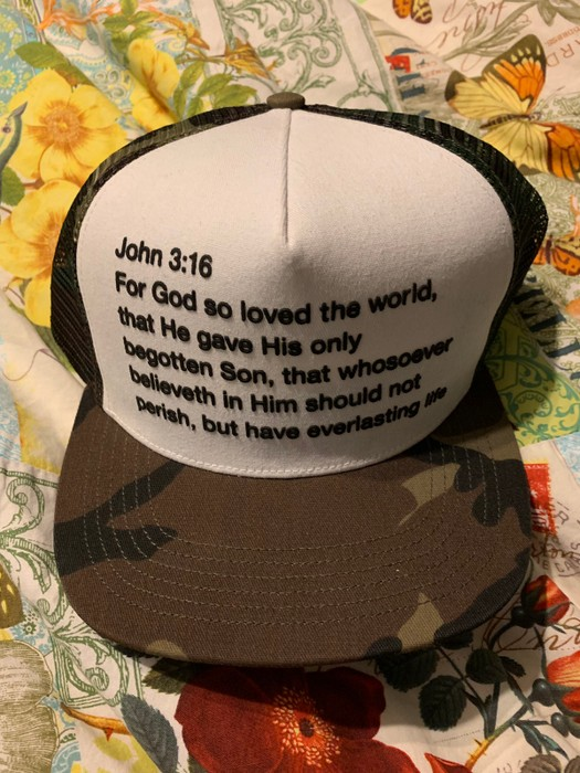 73f82d32a1d Supreme John 3 16 Camo SnapBack Size one size - Hats for Sale - Grailed