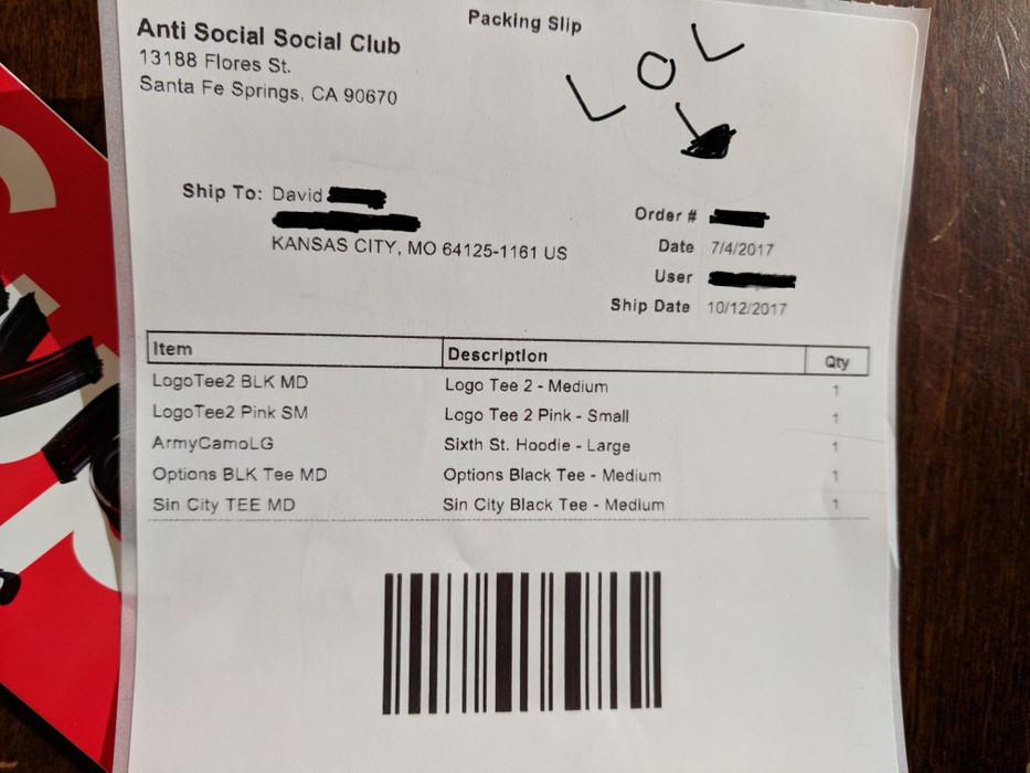 347b68875fa9 Antisocial Social Club ASSC Logo black tee 2 Anti Social Social Club Bape  Supreme Nike Size