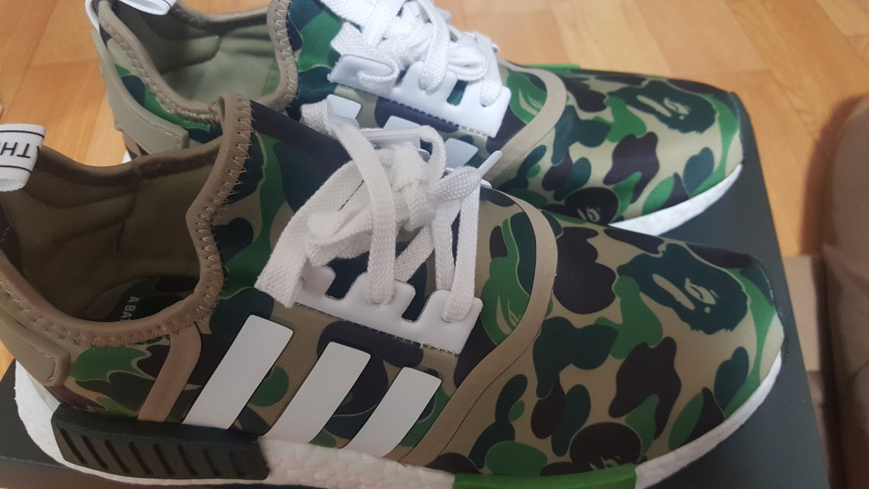 f6e1ab6f81421 Bape adidas x bape nmd Size 9.5 - Formal Shoes for Sale - Grailed