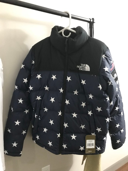 5d90f289ffee The North Face IC Nuptse International Collection USA Cosmic Blue ...
