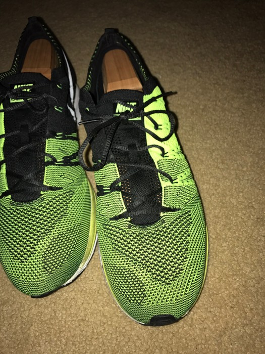 66d7a50a3ee23 Nike NIKE Flyknit Trainer Size 12.5 Volt Black White Size 12 - Low ...